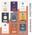 autumn sale flyer a4 size... | Shutterstock .eps vector #1426792382