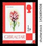 gibraltar   circa 1977  a stamp ...   Shutterstock . vector #1426804508