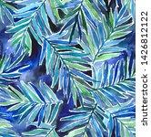 watercolor exotic seamless... | Shutterstock . vector #1426812122