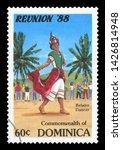 dominica   circa 1988  a stamp...   Shutterstock . vector #1426814948