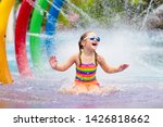 Kids Play In Aqua Park....