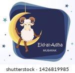 eid al adha mubarak greeting... | Shutterstock .eps vector #1426819985