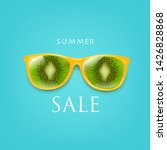 sale poster sunglasses with... | Shutterstock .eps vector #1426828868