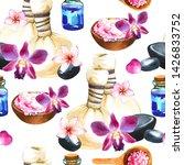 spa watercolor seamless pattern.... | Shutterstock . vector #1426833752