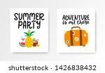 summer cards set. colorful... | Shutterstock .eps vector #1426838432