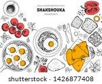 breakfast menu. middle eastern... | Shutterstock .eps vector #1426877408