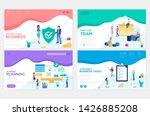 business school website... | Shutterstock .eps vector #1426885208