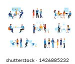 colorful set in flat cartoon... | Shutterstock .eps vector #1426885232