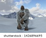 Stock photo call him yeti d illustration 1426896695