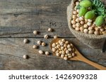 Uncooked Dried Chickpeas In...