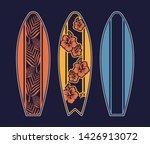 Set Surfboard Print Design For...