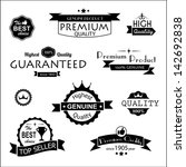 collection of premium quality... | Shutterstock .eps vector #142692838