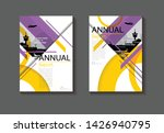 cover layout design purple... | Shutterstock .eps vector #1426940795