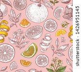 various citrus seamless pattern.... | Shutterstock .eps vector #1426951145