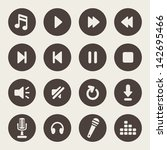 music player icons   Shutterstock .eps vector #142695466
