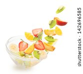 fresh fruits salad | Shutterstock . vector #142696585