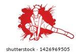 volleyball sport action cartoon ... | Shutterstock .eps vector #1426969505