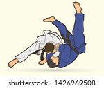 judo sport action cartoon... | Shutterstock .eps vector #1426969508