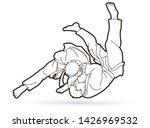 judo sport action cartoon... | Shutterstock .eps vector #1426969532