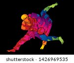 judo sport action cartoon... | Shutterstock .eps vector #1426969535