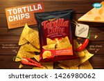 tortilla chips ads with corn... | Shutterstock .eps vector #1426980062