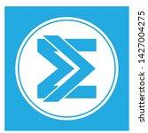 e logo letter vector blue