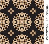 baroque wallpaper with floral...   Shutterstock .eps vector #1427013068