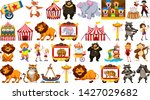 set of circus object...   Shutterstock .eps vector #1427029682