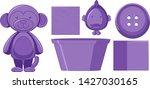 set of pirple objects...   Shutterstock .eps vector #1427030165
