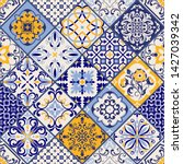 seamless colorful patchwork in... | Shutterstock .eps vector #1427039342