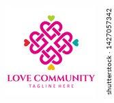 love community square logo...   Shutterstock .eps vector #1427057342