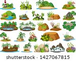set of nature island...   Shutterstock .eps vector #1427067815
