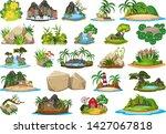 set of nature island...   Shutterstock .eps vector #1427067818