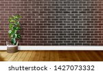 black brown brick walls with...   Shutterstock . vector #1427073332