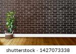 black brown brick walls with...   Shutterstock . vector #1427073338