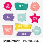 flat design of labels  ribbon... | Shutterstock .eps vector #1427080832