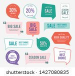 flat design of labels  ribbon... | Shutterstock .eps vector #1427080835