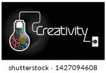 light bulbs cog    creativity... | Shutterstock .eps vector #1427094608