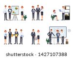 business people teamwork office ... | Shutterstock .eps vector #1427107388