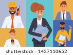 engineer and mechanics and... | Shutterstock .eps vector #1427110652
