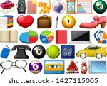large set of different objects...   Shutterstock .eps vector #1427115005