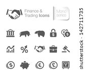 finance   trading related icons | Shutterstock .eps vector #142711735