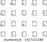 set of document line icons ... | Shutterstock .eps vector #1427121188