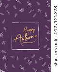 happy autumn sale a4 size flyer ... | Shutterstock .eps vector #1427125328