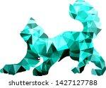 turquoise cat on white ...   Shutterstock .eps vector #1427127788