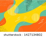 abstract geometric doodle... | Shutterstock .eps vector #1427134802