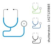 Stethoscope Icon Vector With...