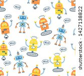 seamless pattern with cute... | Shutterstock .eps vector #1427138822