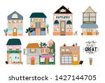 collection of cute house  shop  ... | Shutterstock .eps vector #1427144705