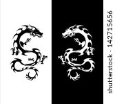 vector version. isolated tattoo ... | Shutterstock .eps vector #142715656